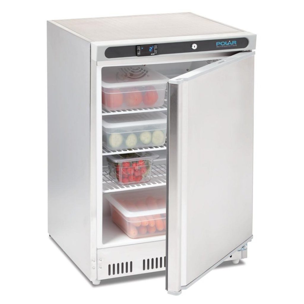 Polar CD080 Stainless steel fridge open