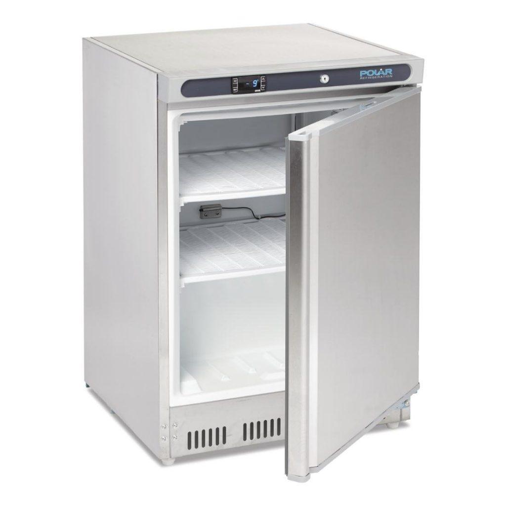 Polar CD081 Stainless steel freezer open
