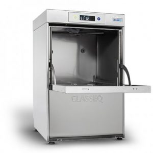 Classeq G400DUO WS, 400 basket glass washer c/w integral water softener.