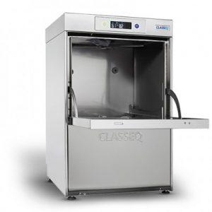 Classeq G400DUO WS, 400 basket glass washer c/w integral water softener.