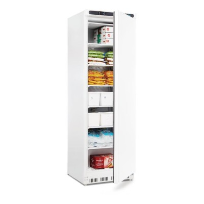 Polar CD613 White 365 litre freezer open stocked