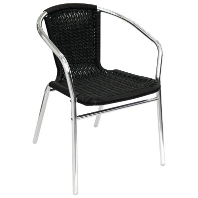 U507 Black Wicker aluminium chair.